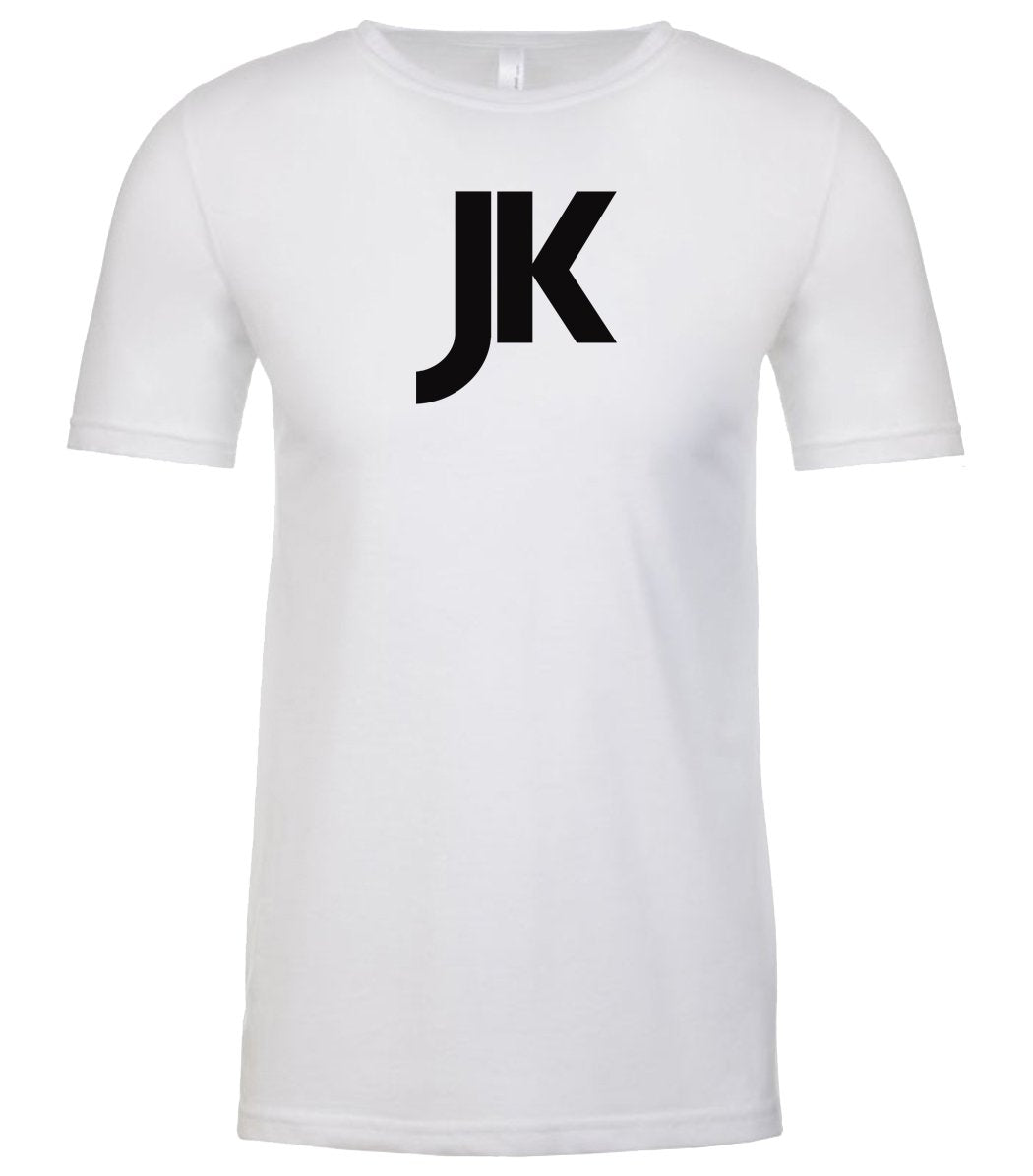 white jk mens crewneck t shirt