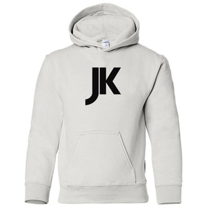 white JK youth hooded sweatshirt for boys