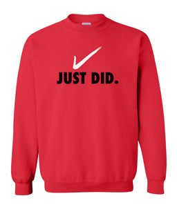 red just did sweatshirt