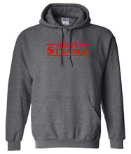 Load image into Gallery viewer, charcoal just strange pullover hoodie