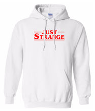 Load image into Gallery viewer, white just strange pullover hoodie