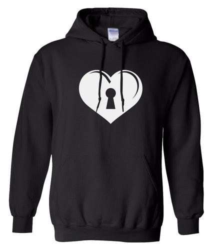 black key to my heart heart matching couples valentines day hoodie