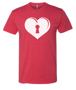 red key to my heart valentines day t-shirt