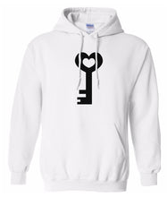 Load image into Gallery viewer, white key to my heart heart matching couples valentines day hoodie