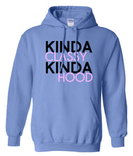 Load image into Gallery viewer, blue classy and hood hoodie