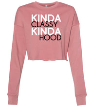 Load image into Gallery viewer, mauve classy hood cropped sweatshirt