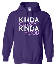 Load image into Gallery viewer, purple classy and hood hoodie