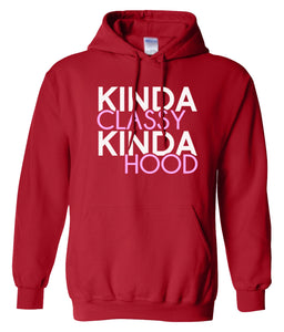 red classy and hood hoodie