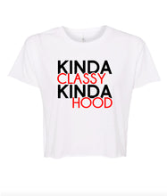 Load image into Gallery viewer, white classy hood crop top t shirt