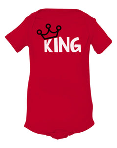 red king baby onesie