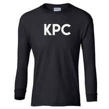 Load image into Gallery viewer, black KPC youth long sleeve t shirt for girls