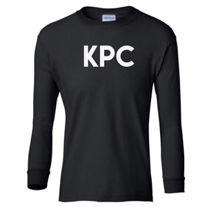 black KPC youth long sleeve t shirt for girls