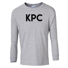 Load image into Gallery viewer, grey KPC youth long sleeve t shirt for girls