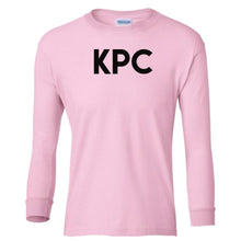 Load image into Gallery viewer, pink KPC youth long sleeve t shirt for girls
