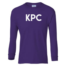 Load image into Gallery viewer, purple KPC youth long sleeve t shirt for girls