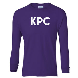 purple KPC youth long sleeve t shirt for girls