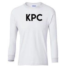 Load image into Gallery viewer, white KPC youth long sleeve t shirt for girls