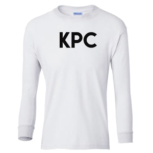 white KPC youth long sleeve t shirt for girls