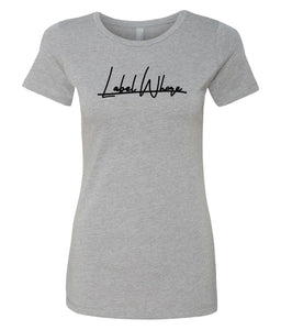 grey label whore crewneck t-shirt for women