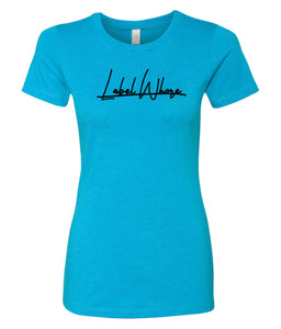 turquoise label whore crewneck t-shirt for women