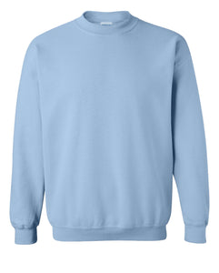 light blue crewneck sweatshirt