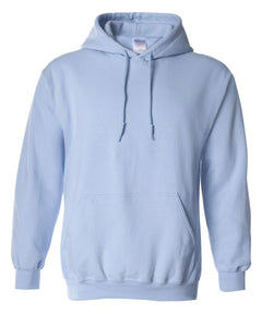 light blue pullover hoodie