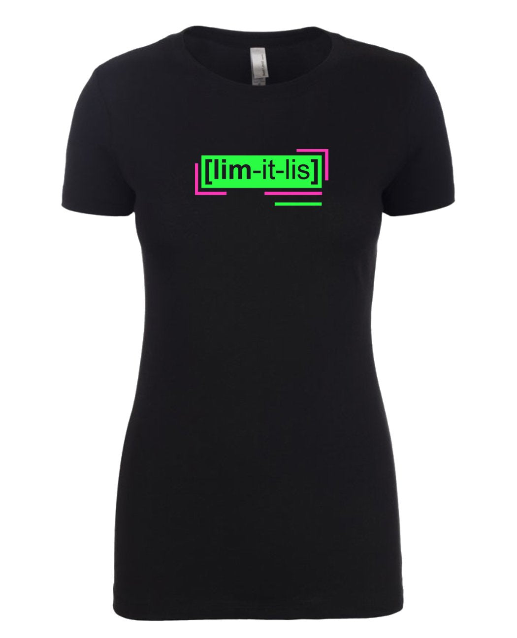 florescent green limitless neon streetwear t shirt for women