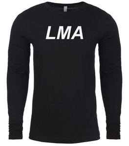black lma mens long sleeve shirt