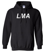 Load image into Gallery viewer, black LMA hooded sweatshirt for women