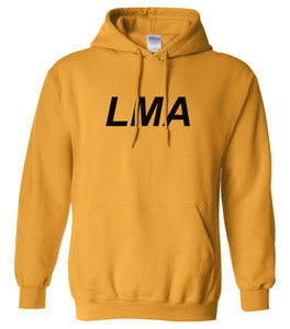 yellow lma mens pullover hoodie