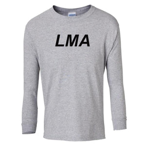 grey LMA youth long sleeve t shirt for boys