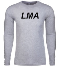 Load image into Gallery viewer, grey lma mens long sleeve shirt