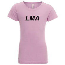 Load image into Gallery viewer, pink LMA youth crewneck t shirt for girls