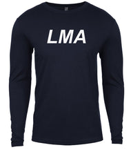Load image into Gallery viewer, navy lma mens long sleeve shirt