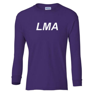 purple LMA youth long sleeve t shirt for girls