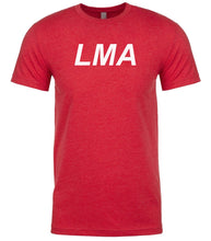 Load image into Gallery viewer, red lma mens crewneck t shirt