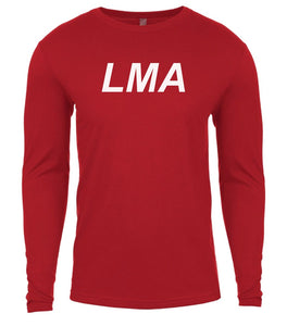 red lma mens long sleeve shirt