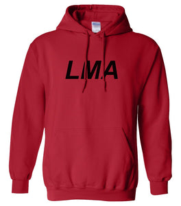 red lma mens pullover hoodie