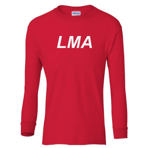 red LMA youth long sleeve t shirt for boys