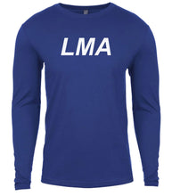 Load image into Gallery viewer, blue lma mens long sleeve shirt