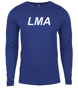 blue lma mens long sleeve shirt