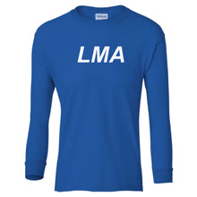 Load image into Gallery viewer, blue LMA youth long sleeve t shirt for boys
