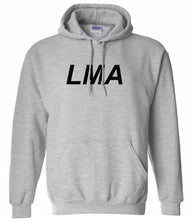 Load image into Gallery viewer, grey LMA hooded sweatshirt for women