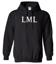 Load image into Gallery viewer, black LML hooded sweatshirt for women