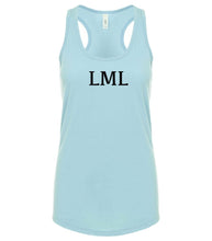 Load image into Gallery viewer, blue LML racerback tank top for women