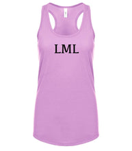 Load image into Gallery viewer, pink LML racerback tank top for women