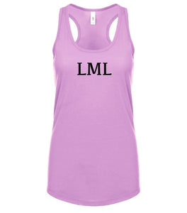 pink LML racerback tank top for women