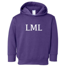 Load image into Gallery viewer, purple LML hooded sweatshirt for toddlers
