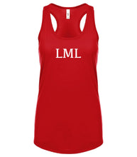 Load image into Gallery viewer, red LML racerback tank top for women