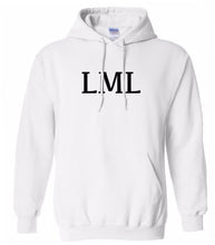Load image into Gallery viewer, white LML hooded sweatshirt for women